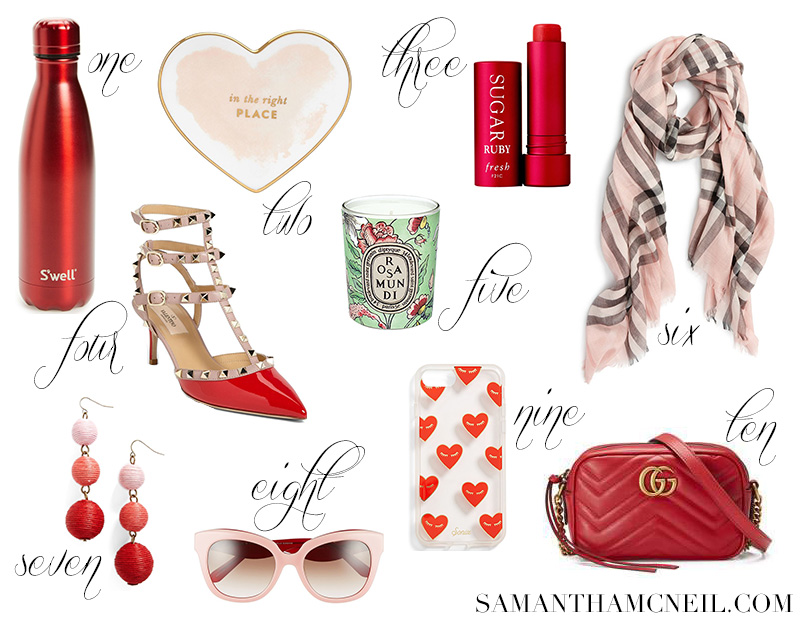 V Day Gift Guide for Her // Samantha McNeil Blog