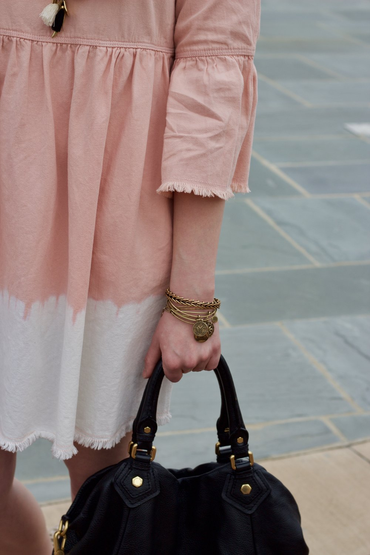 Samantha McNeil Blog // Pink Dye Dipped Dress