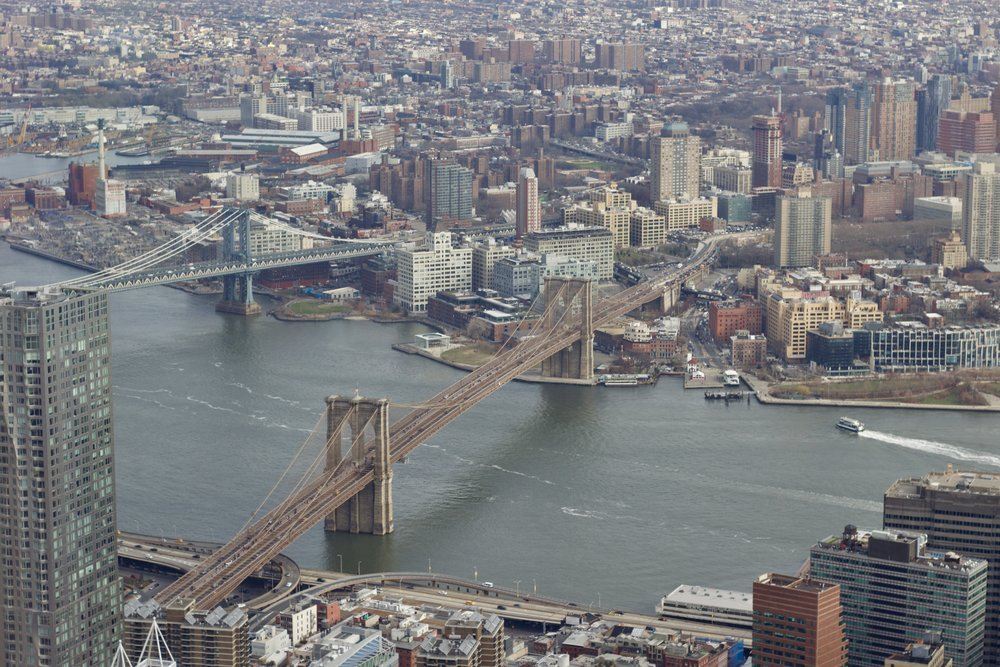 Samantha McNeil Blog // One World Trade Center Observatory View of the Brooklyn Bridge