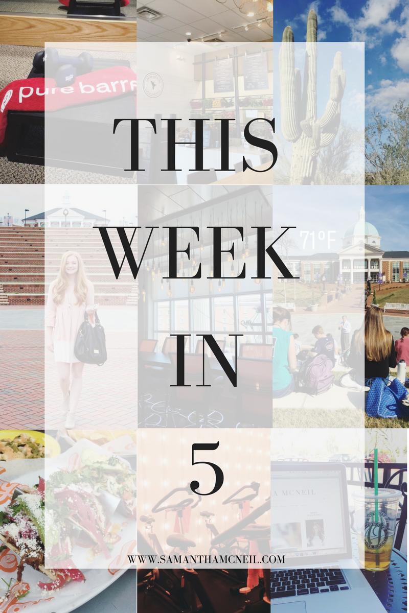 Samantha McNeil Blog // This Week in 5 // 3.26.17