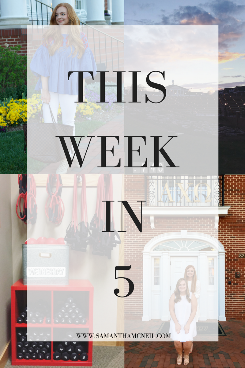 Samantha McNeil Blog // This Week In 5