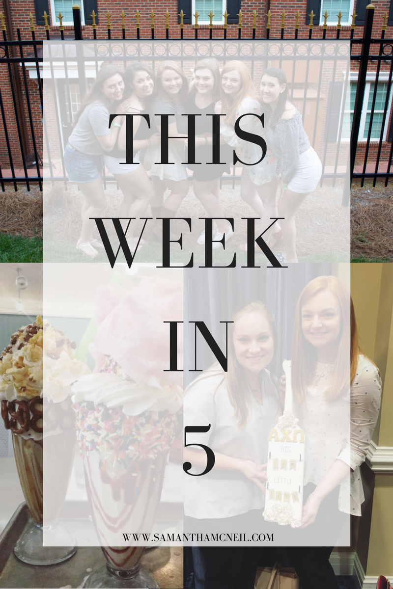 Samantha McNeil Blog // This Week In 5 // April 30th