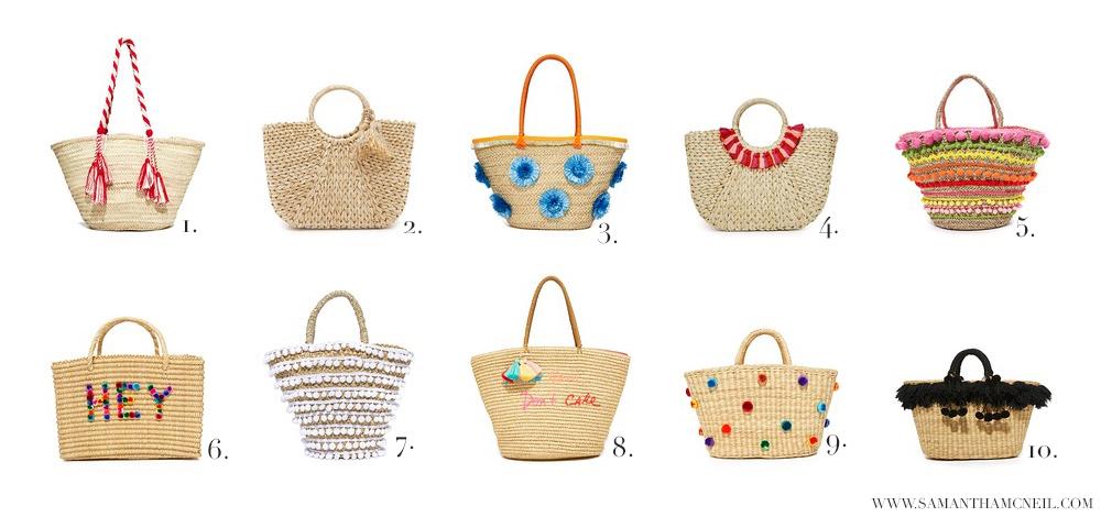 Beach Bags // Samantha McNeil Blog