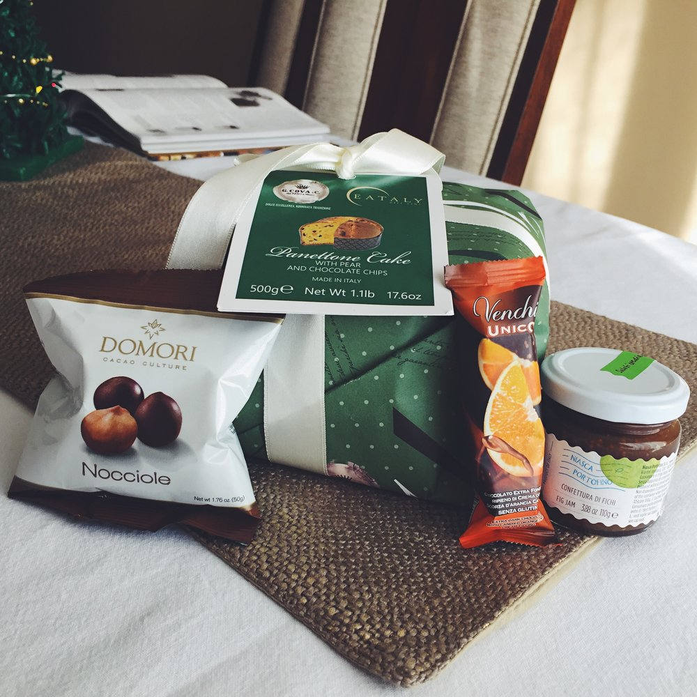 Eataly care package from an  anonymous sender- thank you!!