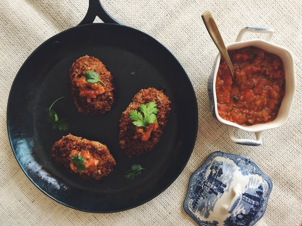Russian Kotleti with Tomato Sauce