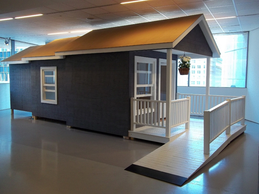 Telescoping House, Multimedia Installation, 11' x 10' x 28',  2010.jpg