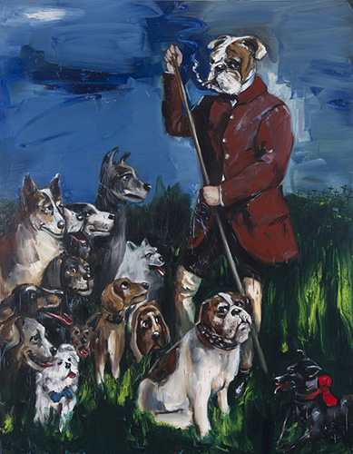 1.The Dog Walker, 2015, 250x200, oil on linen.jpg