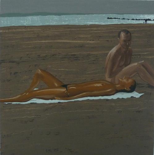gennadibarbush_Beach, vinyl gouache on plywood panel, 16 x 16.jpg