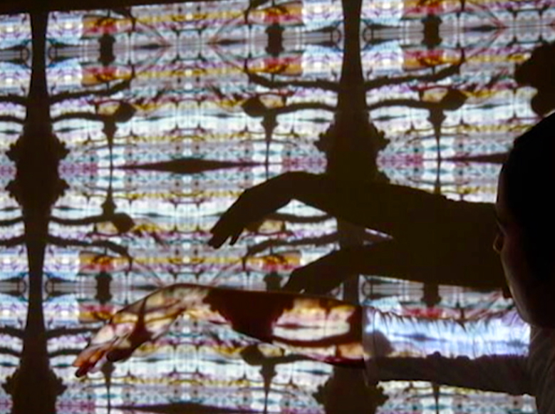 personal resarch , interactive pattern projection through webcam, 2015