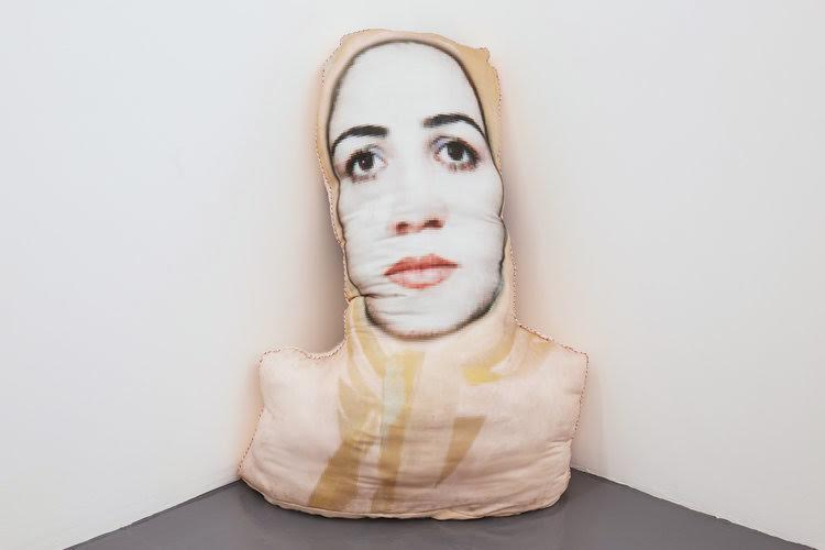 Sheida Soleimani,  Maryam , 2017, archival pigment print on cotton, polyester filling, dimensions variable, image in courtesy of the artist