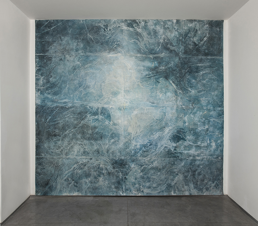The Blue Marble , 2016, mix media on canvas, 380x400 cm