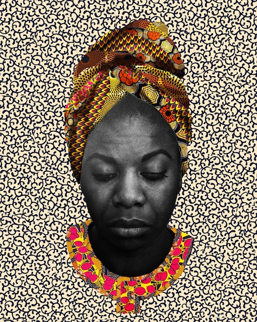 Nina Simone, 2016,Digital Collage, 8x10