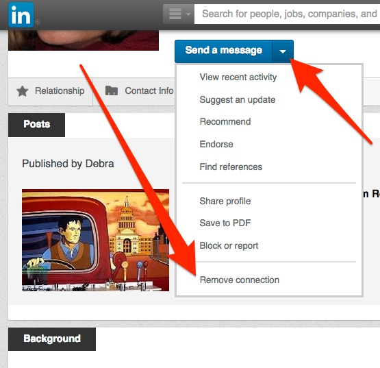 Remove LinkedIn Contact