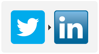 Use #li to post tweets to LinkedIn
