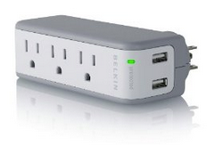 Belkin Mini Surge Protector Dual USB Charger