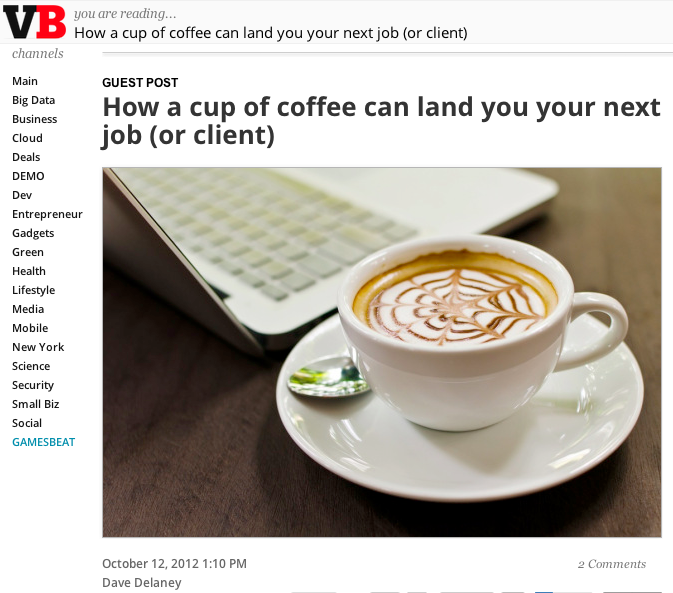 How a cup of coffee can land you your next job or client
