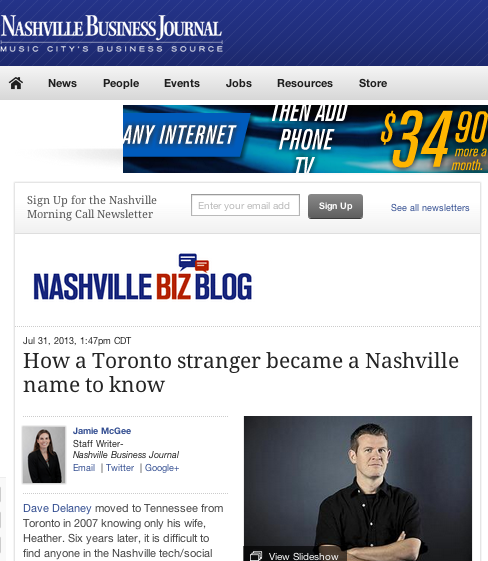 How a Toronto stranger became a Nashville name to know