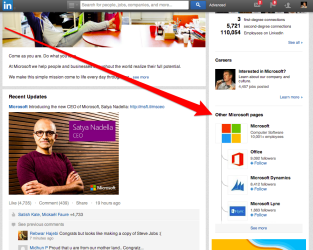 Microsoft LinkedIn Showcase Pages