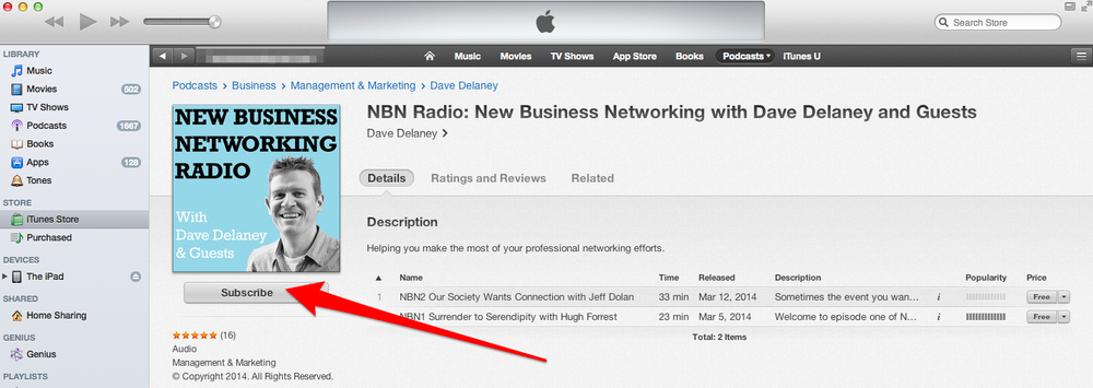 how to subscribe to podcasts in itunes