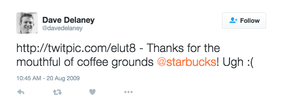 dave delaney starbucks tweet baristafail
