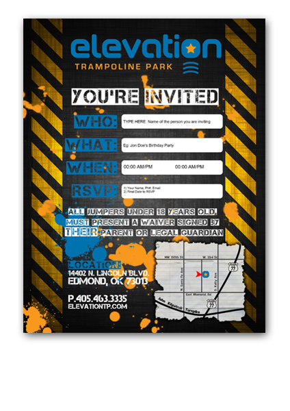 Edmond Invitations Elevation Trampoline Park