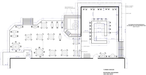 Restaurant designer raymond haldemanrestaurant floor plans for Outdoor floor plan