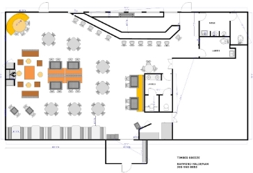 Restaurant floor plan restaurant floor plan roomsketcher for How to create a restaurant floor plan