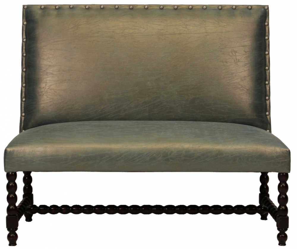 Cordoba Designer Banquette Dimensions: W: 50″ D: 23″ H: 44″ Available in custom sizes & fabrics.