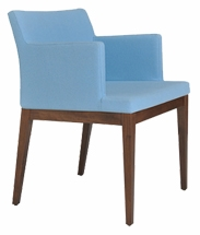 Chadri Wood Modern Restaurant Chair