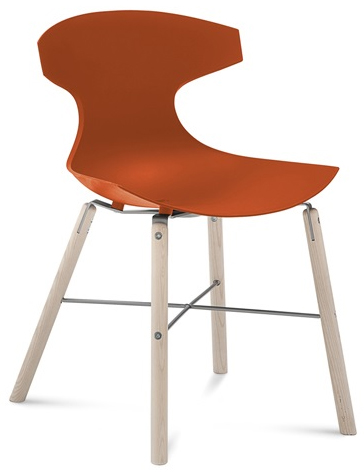Telsa Modern Wood Restaurant Chair