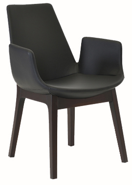 Bleu Wood Modern Restaurant Arm Chair