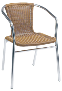 Modern Wicker Restaurant Chair