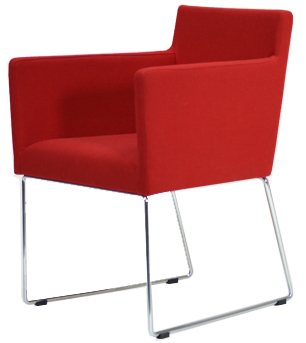 Claret Modern Sled Restaurant Chair