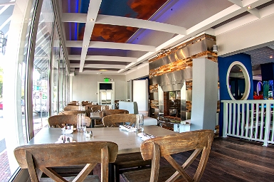 "FINS Bar & Grille in Cape May, NJ.  Raymond recently finished ""FINS"" the former Pilot House which he gutted, totally redesigned, rebranded and relaunched in 2015.     ...by the completion of the project, city officials were telling him it was the biggest thing to happen to the town in 50 years.   FSR Magazine"
