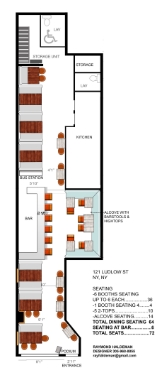 Restaurant Design, 3D Renderings & Floor Plan by Raymond Haldeman