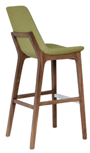 Bluewood Armless Contempory Barstool