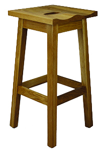 Simple Wood Molded Seat Barstool