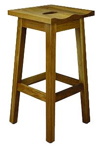 Simple Wood Molded Seat Barstool
