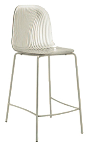 Scala Clear Counter-Height Barstool