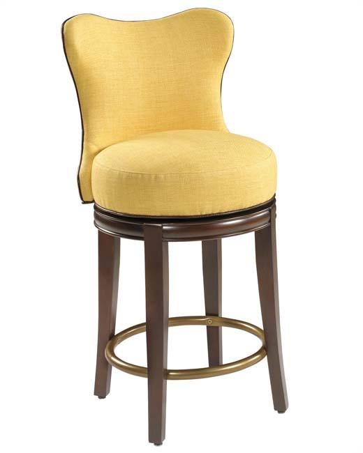 Blaker Designer Swivel Barstool   Counter Height