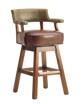 Fleming Traditional Swivel Barstool