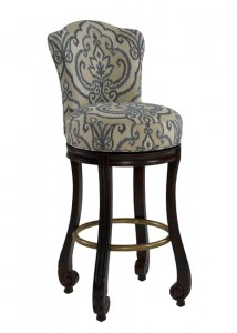 Palazzo Upholstered Traditional Swivel Barstool