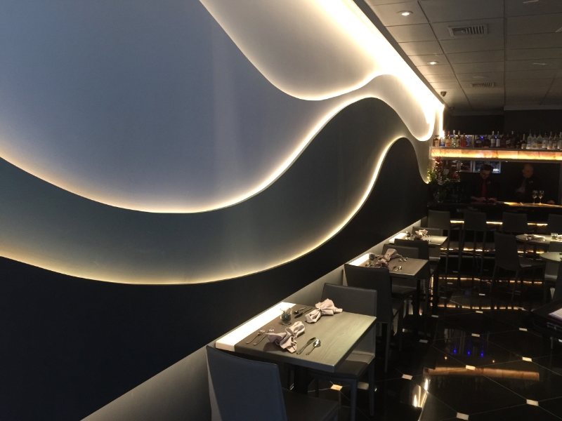 Restaurant Designers LED Flowing Wavy Wall