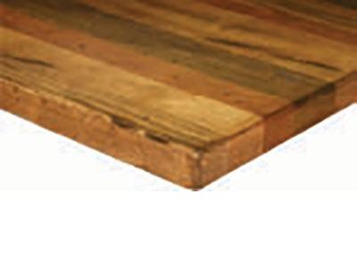 'Farmhouse'' Wood Top 1.75''** (Random Plank, Multi-Species, & Heavy Distressing)