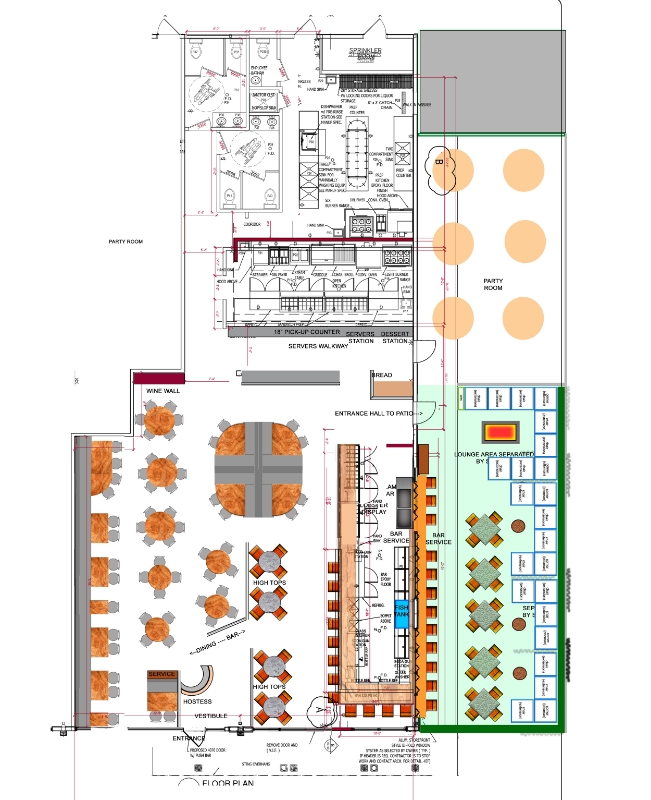 Restaurant designer raymond haldemanrestaurant floor plans for Nightclub floor plans