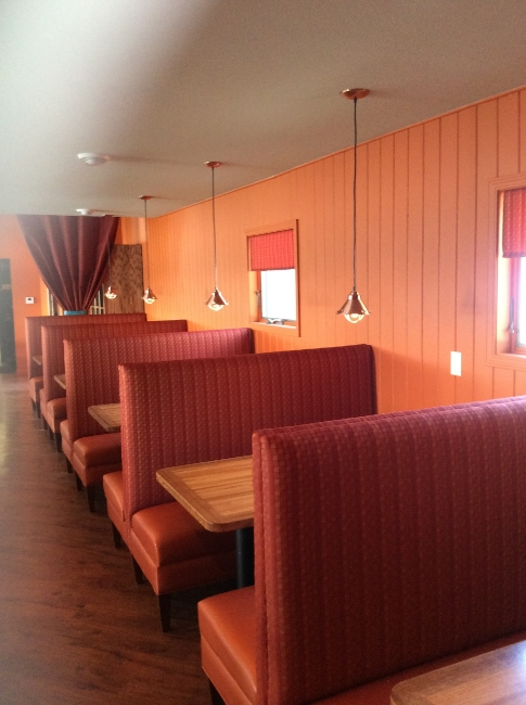 Restaurant Designer Booths & Ash Wood Tables