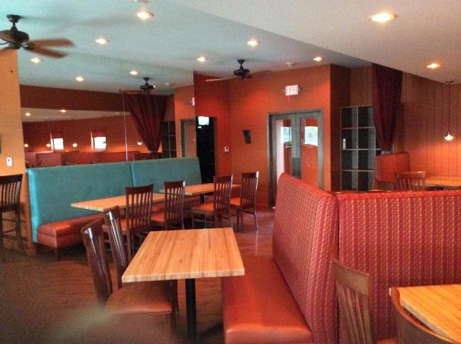 Restaurant Designer Turquoise Suede Banquette