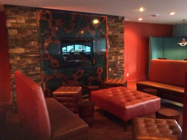 Restaurant Designer Stack Stone Fireplace