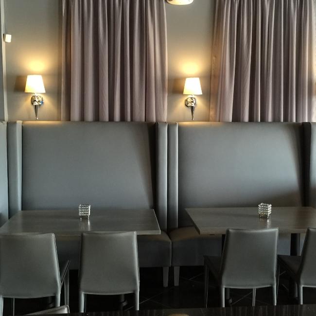 Restaurant Designer Banquette Sheers