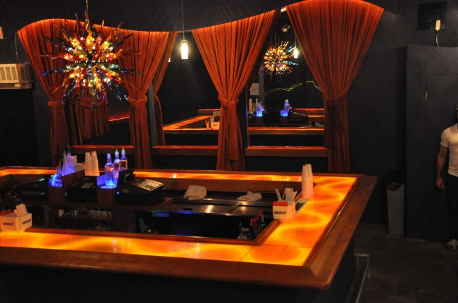 Nightclub Designer Bar & Chandelier